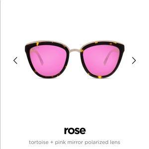 DIFF Eyewear Tortoise + Pink Mirror Polarized Lens